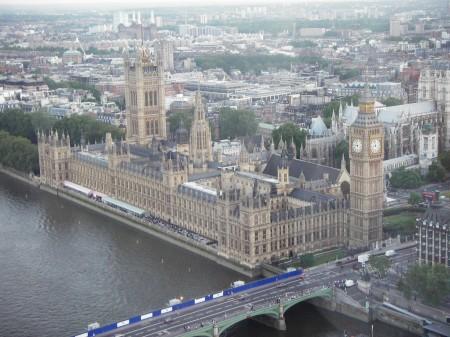 House of Parlament sett fra London Eye